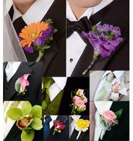 Бутоньерки из живых цветов для жениха