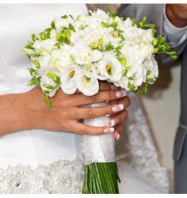 Свадебный букет Белоснежность